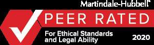 Peer Rated for Ethical Standards and Legal Ability